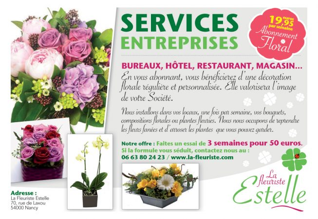 Abonnement fleurs entreprises à nancy