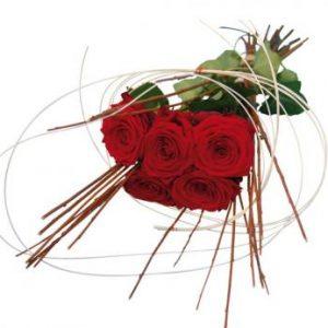 saint valentin et bouquet de roses