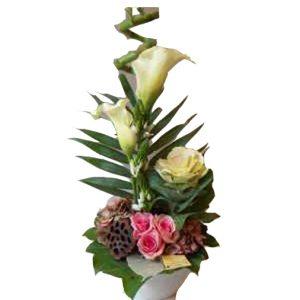 arrangement floral pastel