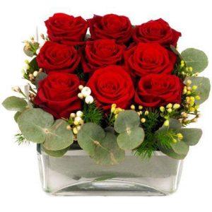 roses rouges pour la fête des amoureux