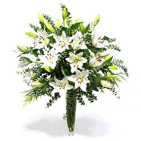 envoyer un bouquet de lys blanc parfumé