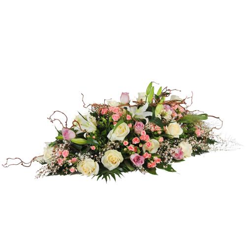 Coussin multicolore pour mettre sur une tombe ou sur un for Livraison fleurs nancy