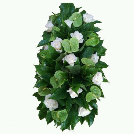 gerbe de fleurs blanches et vert
