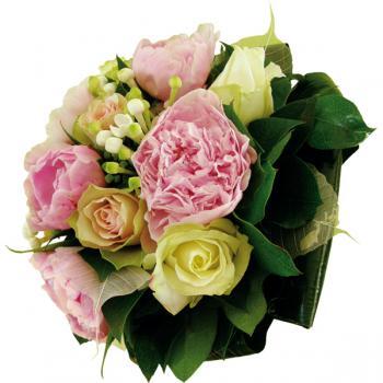 Bouquet de pivoine roses et blanc