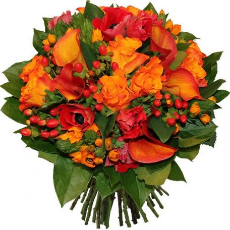 beau bouquet rond chaleureux