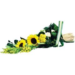 bouquet de gerbe avec fleurs de tournesol