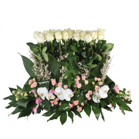 funéraire et fleurs