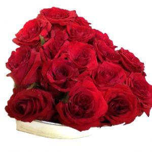 mariage coeur de roses