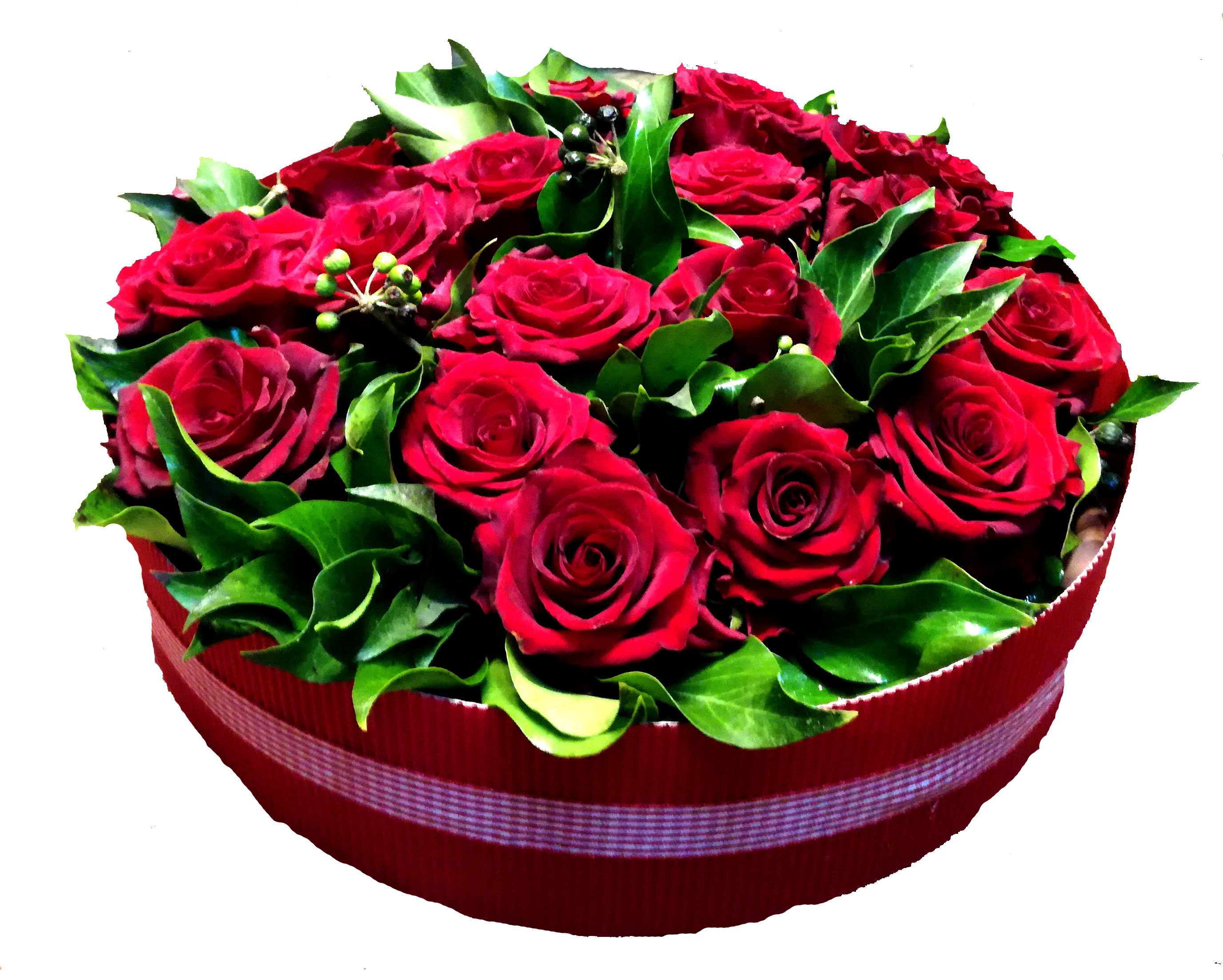 gateau de roses rouges