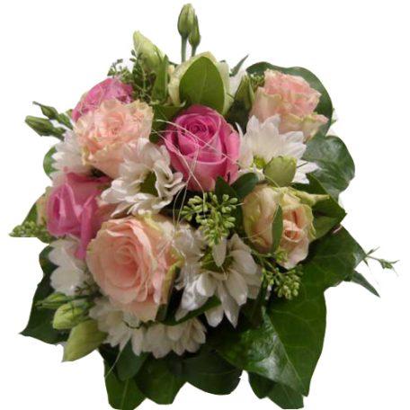 Votre bouquet de mariée pastel rose et blanc