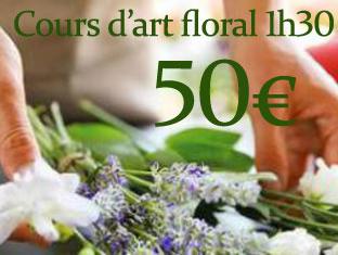 offrir un bon cadeau cours d'art floral